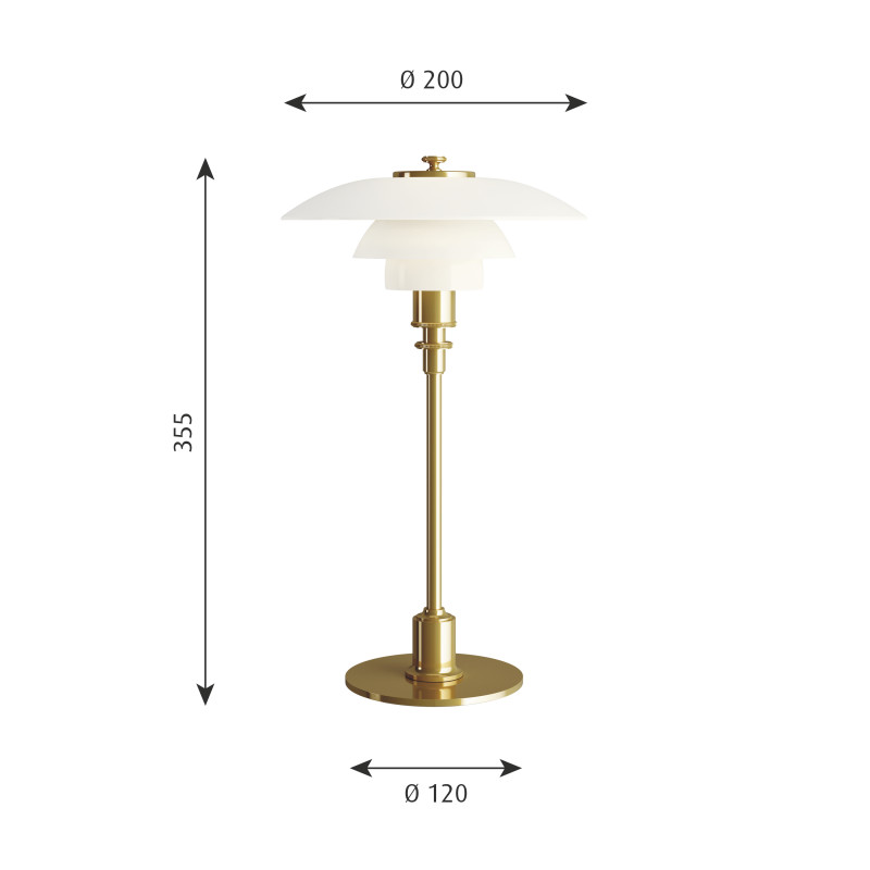 Lamp Plus Stores: Louis Poulsen PH 2/1 Table Lamp