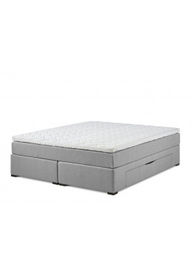 Lama First continental bed with storage incl. 50mm top mattress.