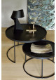 Ethnicraft round tray coffee table set