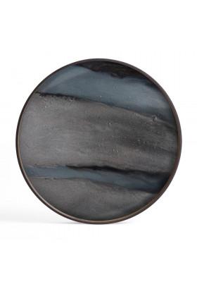 Ethnicraft Graphite Organic glass tray