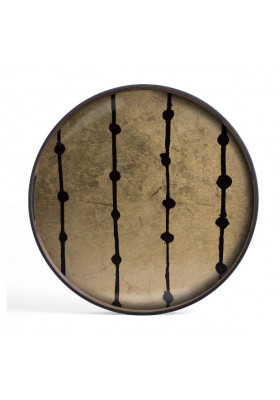 Ethnicraft Brown Dots glass tray