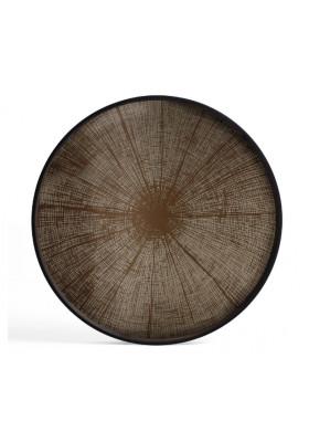 Ethnicraft Bronze Slice mirror tray