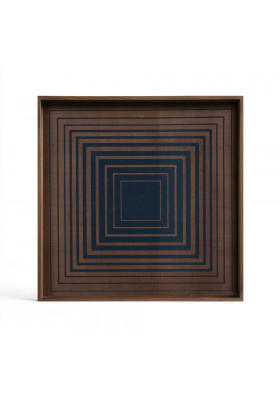 Ethnicraft Ink Square glass tray