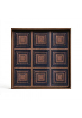 Ethnicraft Ink Squares glass tray