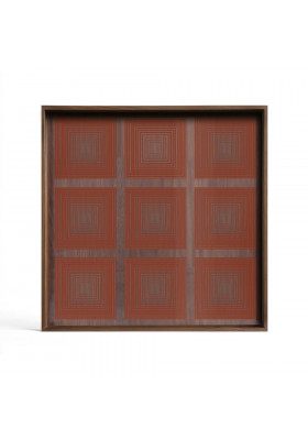 Ethnicraft Pumpkin Square glass tray