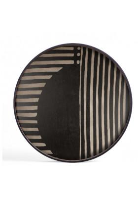 Ethnicraft Asymmetric Dot wooden tray