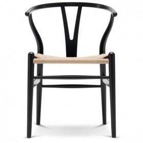 Carl Hansen Wishbone chair CH24, ash black lacquered