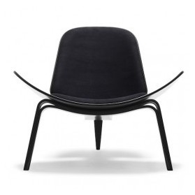 Carl Hansen Shell chair CH07, fresno lacado en negro